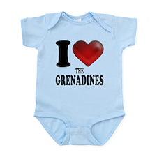 I Heart The Grenadines Body Suit
