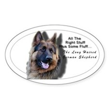 """""""All The Right Stuff"""" Long Haired GSD Decal"""