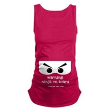 Ninja on board Maternity Tank Top