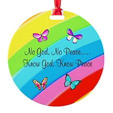 KNOW GOD Round Ornament