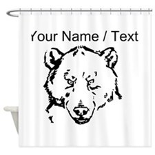 Custom Grizzly Bear Face Shower Curtain