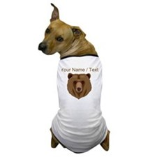 Custom Brown Grizzly Bear Dog T-Shirt