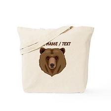 Custom Brown Grizzly Bear Tote Bag