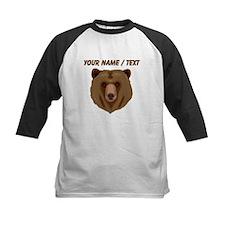 Custom Brown Grizzly Bear Baseball Jersey