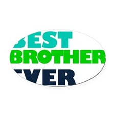 2 Brother Oval Car Magnet