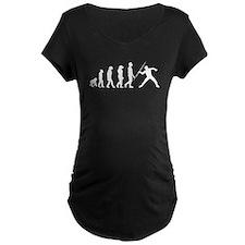 Javelin Throw Evolution Maternity T-Shirt