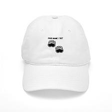 Custom Bear Paw Prints Baseball Baseball Cap