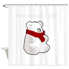 Custom Teddy Polar Bear Shower Curtain