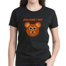 Custom Cute Bear Face T-Shirt