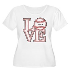 Personalized Front and Back Love Baseball T-Shirt