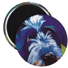 Blue and Lime Wire Haired Griffon  Magnet