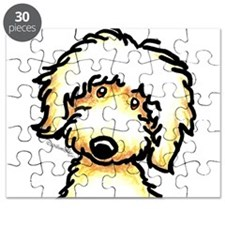 Yellow Labradoodle Face Puzzle
