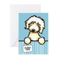 Yw Labradoodle Thank You Greeting Card