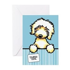 Yw Labradoodle Thank You Greeting Cards (Pk of 20)