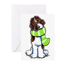 Labradoodle Scarf Greeting Cards (Pk of 20)