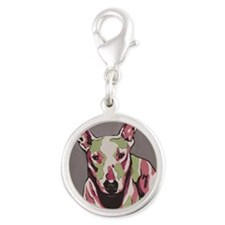 Bulll Terrier - Andromeda Silver Round Charm