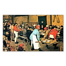 Bruegel - Peasant Wedding, 156 Decal