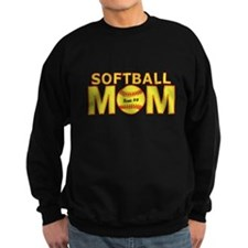 Personalized Softball Mom Sweatshirt