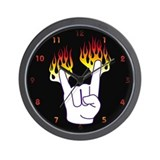 Heavy Metal Hand Wall Clock