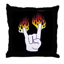 Heavy Metal Hand Throw Pillow