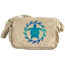 Ocean Blue Turtle Sun Messenger Bag