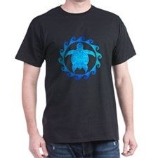 Ocean Blue Turtle Sun T-Shirt