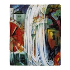 Franz Marc - Enchanted Mill Throw Blanket