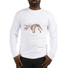 triceratops skeleton.png Long Sleeve T-Shirt