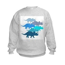 blue triceratops family Sweatshirt