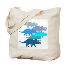 blue triceratops family Tote Bag