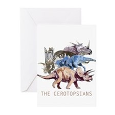 3-ceratopsians.png Greeting Cards (Pk of 10)