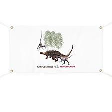 Velociraptor vs. Akylosaurus Banner