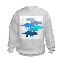 Blue Triceratops Family Sweatshirt