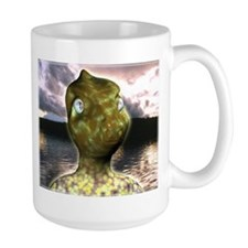 dinosaur alien Coffee Mug