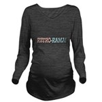 text_retrorama.png Long Sleeve Maternity T-Shirt
