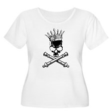 Artillery Skull Cross Cannons Plus Size T-Shirt