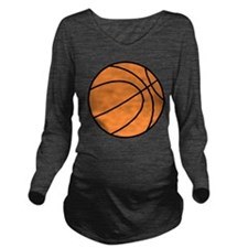 basketball graphic Long Sleeve Maternity T-Shirt