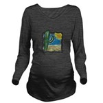 cactus scene copy.jpg Long Sleeve Maternity T-Shir