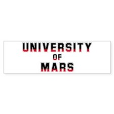 University of Mars Bumper Bumper Sticker