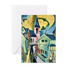 Konigstein with Red Church, famous p Greeting Card