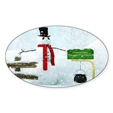 Snowman Relocation Decal