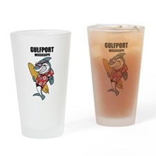 Gulfport, Mississippi Drinking Glass