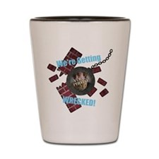 Wrecking Ball CUSTOM TEXT n PHOTO Shot Glass
