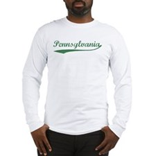 Vintage Pennsylvania (Green) Long Sleeve T-Shirt