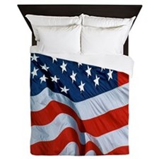 American Flag square Queen Duvet