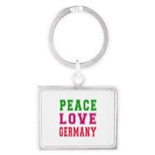Peace Love Germany Landscape Keychain