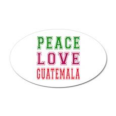 Peace Love Guatemala 20x12 Oval Wall Decal