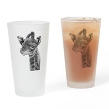 Baby Giraffe Drinking Glass
