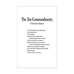 Solon's Ten Commandments (Mini Poster Print)