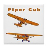 Piper Cub Tile Coaster